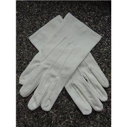 Witte katoenen handschoenen