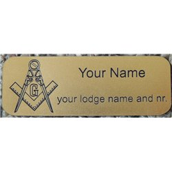 Engraved name plate copper with magnetclip