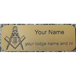 Graviertes Namensschild Kupfer mit Magnetclip