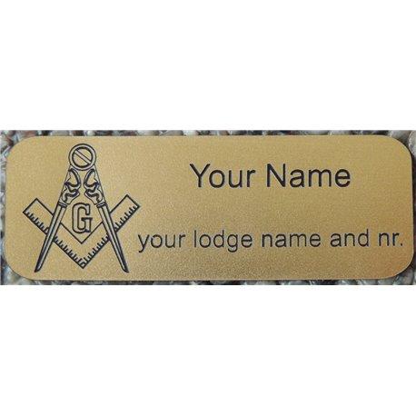Regalia koffer gegraveerde naamplaat koper