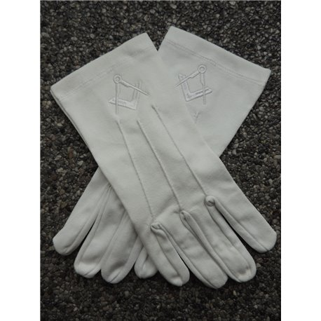 White cotton gloves S&C white new size