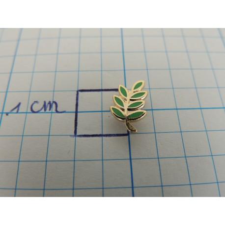 Goupille branche d'acacia vert