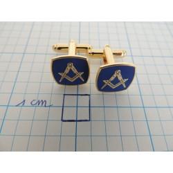 Manschettenknöpfe blau Q&K
