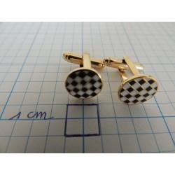 Manschetteknöpfe Schachbrettmuster runder