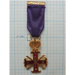 Red cross of Constantine past sovereigns breast jewel