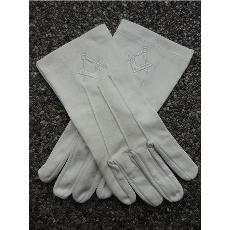 Witte katoenen handschoenen P&W wit