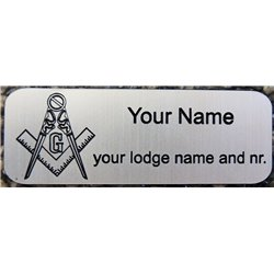 Regalia case engraved name plate silver
